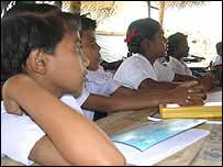 Children in Mullaitivu school