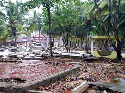 Gurukulam reduced to rubble